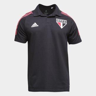 Camisa Polo São Paulo Viagem 21/22 Adidas Masculina