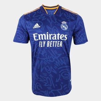 Camisa Real Madrid Away 21/22 s/n° Jogador Adidas Masculina