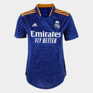 Camisa Real Madrid Away 21/22 s/n° Torcedor Adidas Feminina