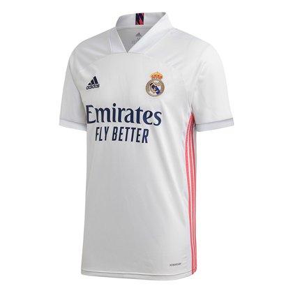 Camisa Real Madrid Home 20/21 s/n° Torcedor Adidas Masculina
