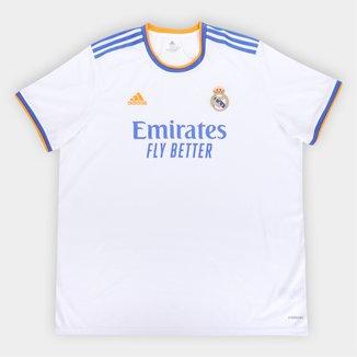 Camisa Real Madrid Home 21/22 s/n° Torcedor Adidas Masculina