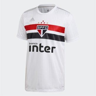 Camisa São Paulo I 20/21 s/n° c/ Patrocínio Torcedor Adidas Masculina