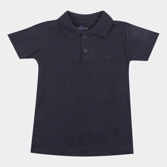 Camisas Polo  M/Malha Básica Elian-51018-PP - Preto