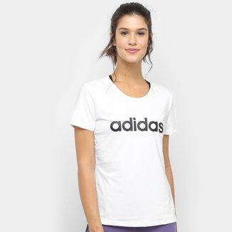 Camiseta Adidas D2M Logo Feminina