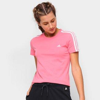 Camiseta Adidas Essentials 3 Listras Feminina