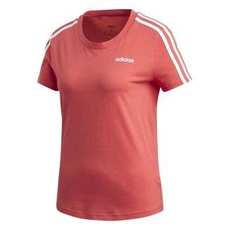 Camiseta Adidas Essentials 3 Stripes Feminina