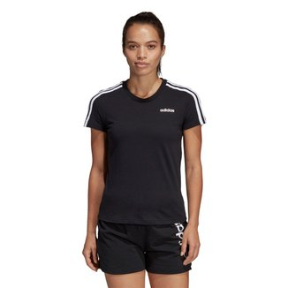 Camiseta Adidas Essentials 3 Stripes Feminina