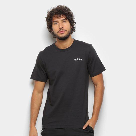Camiseta Adidas Essentials Plain Masculina - Preto+Branco