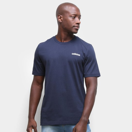 Camiseta Adidas Essentials Pln Masculina - Marinho+Branco