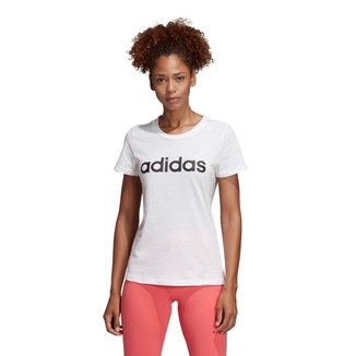 Camiseta Adidas Estampa Logo Slim Feminina
