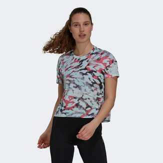 Camiseta Adidas Fast Aop Feminina