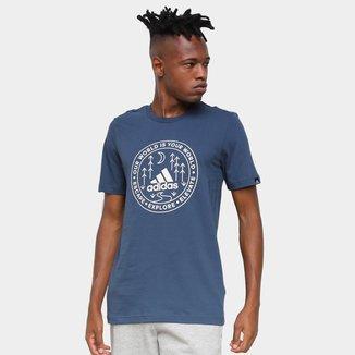 Camiseta Adidas Gráfica Explorer Masculina