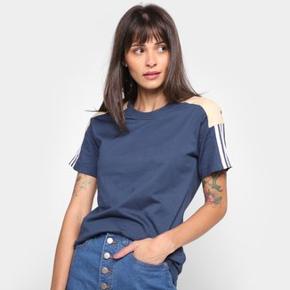 Camiseta Adidas Linear Color Block Feminina
