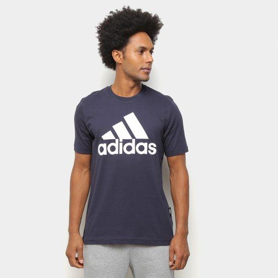 Camiseta Adidas Must Haves Badge Of Sport Masculina - Marinho+Branco
