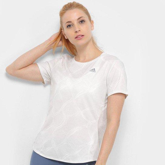 Camiseta Adidas Own The Run Feminina - Off White