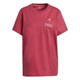 Camiseta Adidas Pocket Feminina