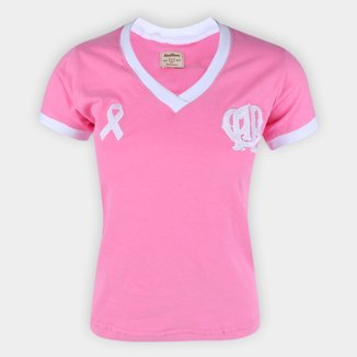 Camiseta Athletico Paranaense Outubro Rosa Retrô Mania Feminina