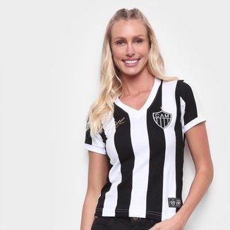 Camiseta Atlético Mineiro Retrô Mania 1983 nº 11 Eder Feminina