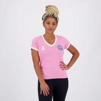 Camiseta Bahia Retrô Mania Outubro Rosa Feminina