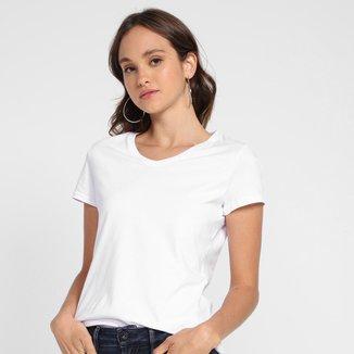 Camiseta Basicamente Baby Look Lisa Feminina