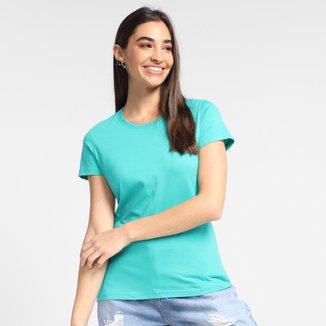 Camiseta Basicamente Baby Look Lisa