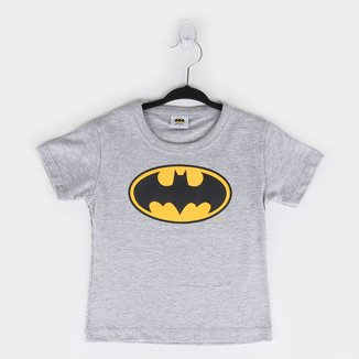 Camiseta Bebê Fakini Batman Manga Curta Masculina