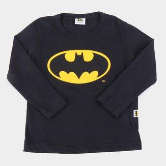 Camiseta Bebê Fakini Batman Manga Longa