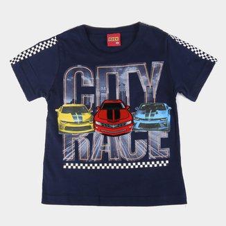 Camiseta Bebê Kyly City Race Masculina