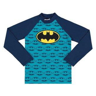 Camiseta Bebê Marlan Proteção UV Batman Manga Longa Masculina