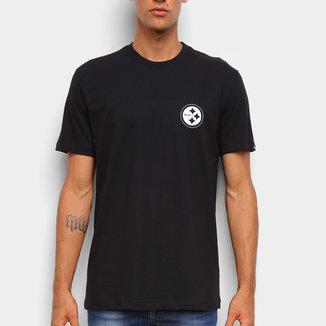 Camiseta Black Pack NFL Pittsburgh Steelers New Era Logo Shield Masculina