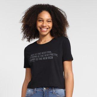 Camiseta Calvin Klein Cropped Nice And Strong Feminina