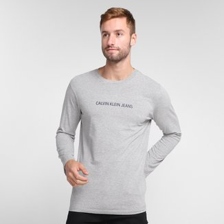 Camiseta Calvin Klein Estampada Manga Longa Masculina