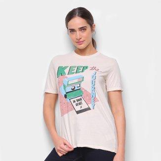 Camiseta Cantão Boyfriend Polaroid Feminina