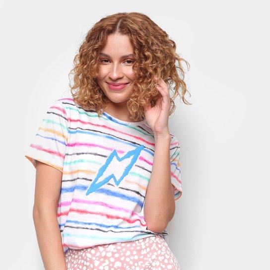 Camiseta Cantão Espectro Manga Curta Feminina - Off White