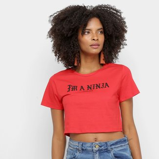 Camiseta Cavalera Tee Cropped Slim Im A Ninja Feminina