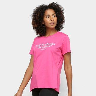 Camiseta Coca Cola Love Feminina