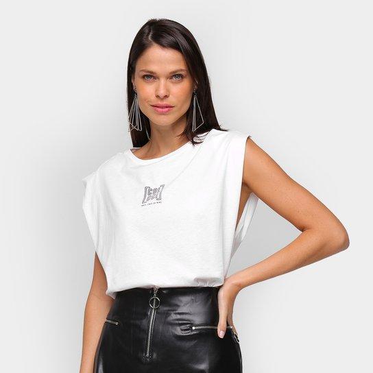 Camiseta Colcci Basic State Of Mind Feminina - Off White