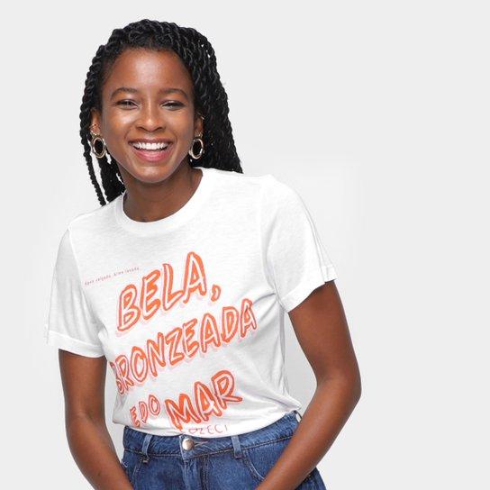 Camiseta Colcci Bela Bronzeada E Do Mar Feminina - Off White