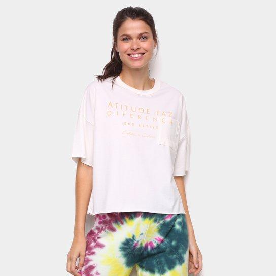 Camiseta Colcci Diferença Eco Active Feminina - Off White