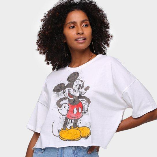 Camiseta Colcci Disney Mickey Feminina - Off White