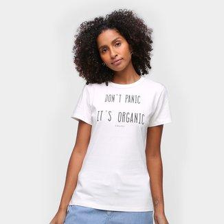 Camiseta Colcci Don't Panic It's Organic Feminina
