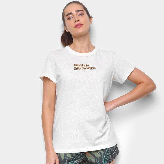 Camiseta Colcci Earth Feminina - Off White+Nude