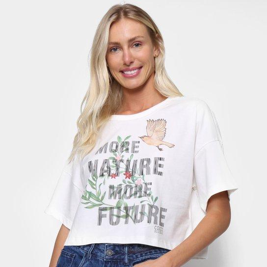 Camiseta Colcci Estampada Manga Curta Feminina - Off White