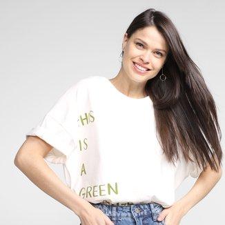Camiseta Colcci Green Message Feminina