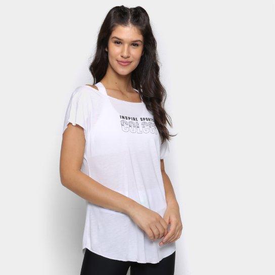 Camiseta Colcci Inspired Sports Feminina - Off White