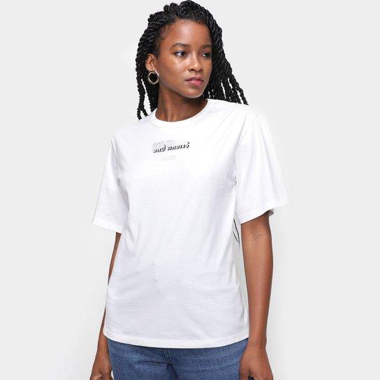 Camiseta Colcci Logo Amarração Nas Costas Feminina - Off White