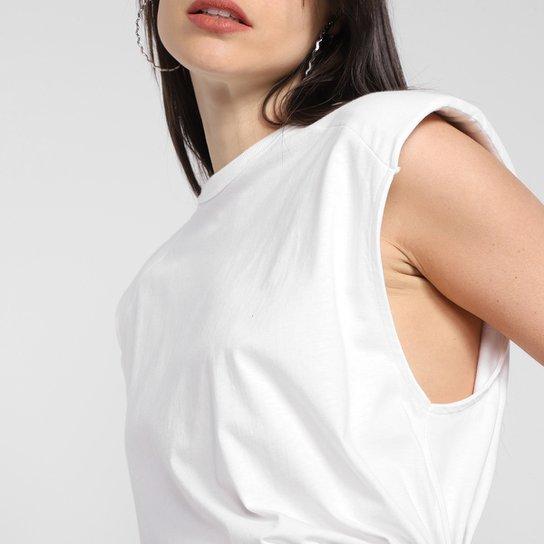 Camiseta Colcci Ombreira Boyfriend Feminina - Off White