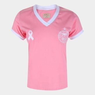 Camiseta Coritiba Outubro Rosa Retrô Manina Feminina