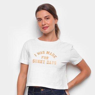 Camiseta Cropped Billabong Sunny Days Feminina