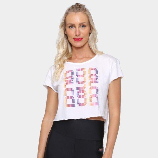 Camiseta Cropped Colcci Colors Feminina - Off White